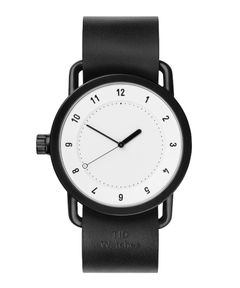 """TID WATCHES / """"No.1 - LEATHER WRISTBAND"""" リストウォッチ 40mm"""