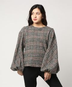 【No.6】Ballon Top Hunter Italian Plaid Wool