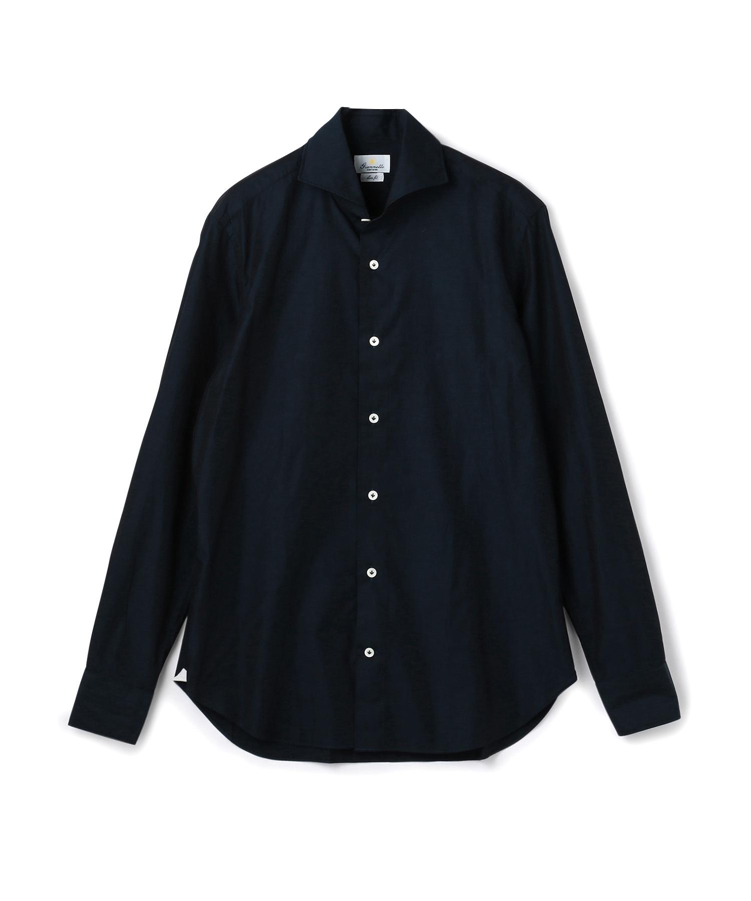 Giannetto ホリゾンタルカラーシャツ