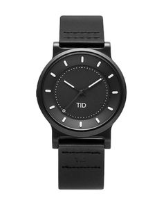 """TID WATCHES / """"No.4 - LEATHER WRISTBAND"""" リストウォッチ 40mm"""