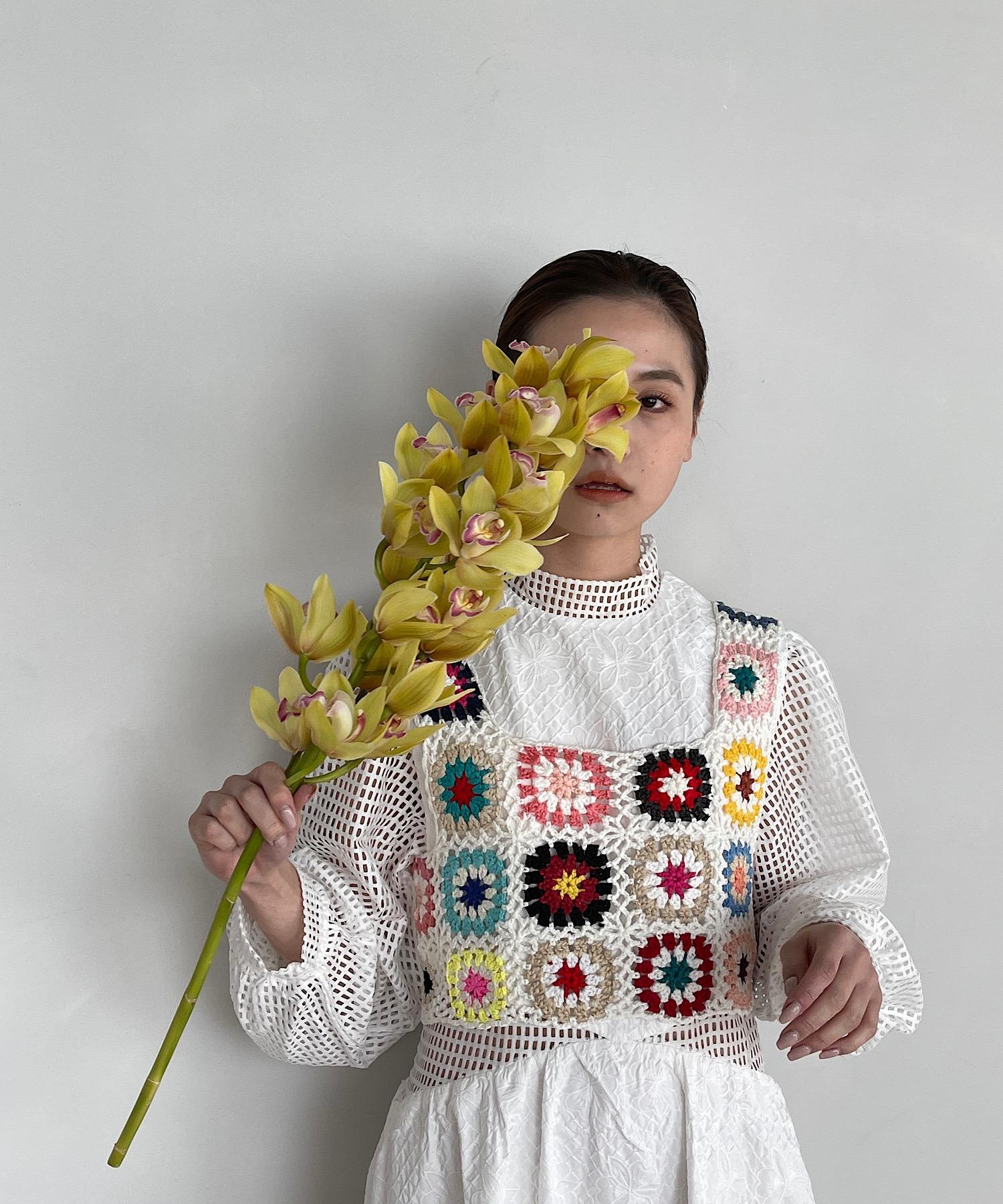 【SANSeLF】crochet knit bustier sanw66