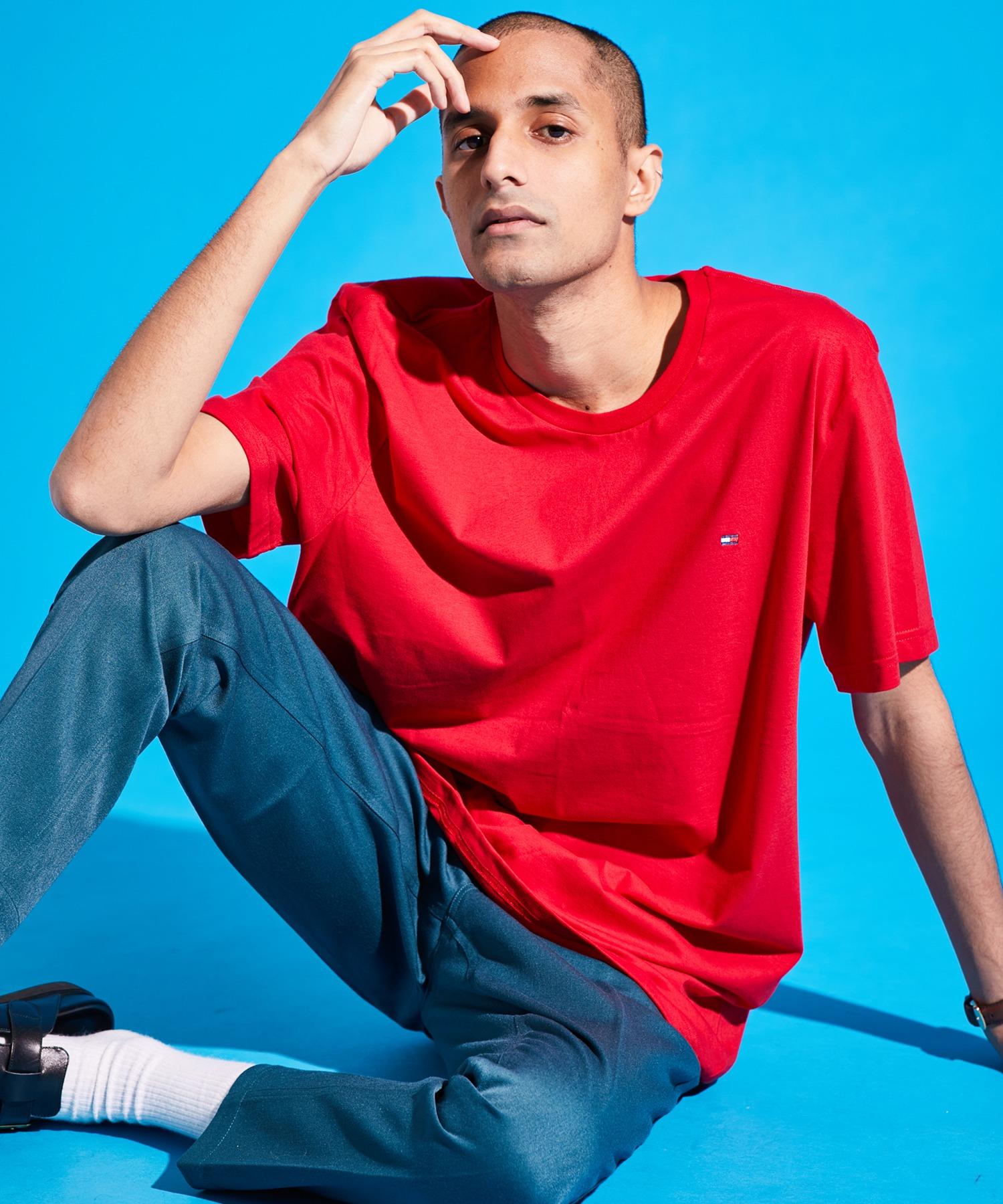 TOMMY HILFIGER/トミー ヒルフィガー CORE FLAG CREW NECK TEE クルーネック半袖Tシャツ