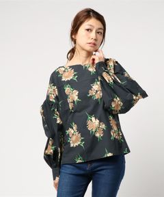 【No.6】Bishop Top White Winter Floral Print