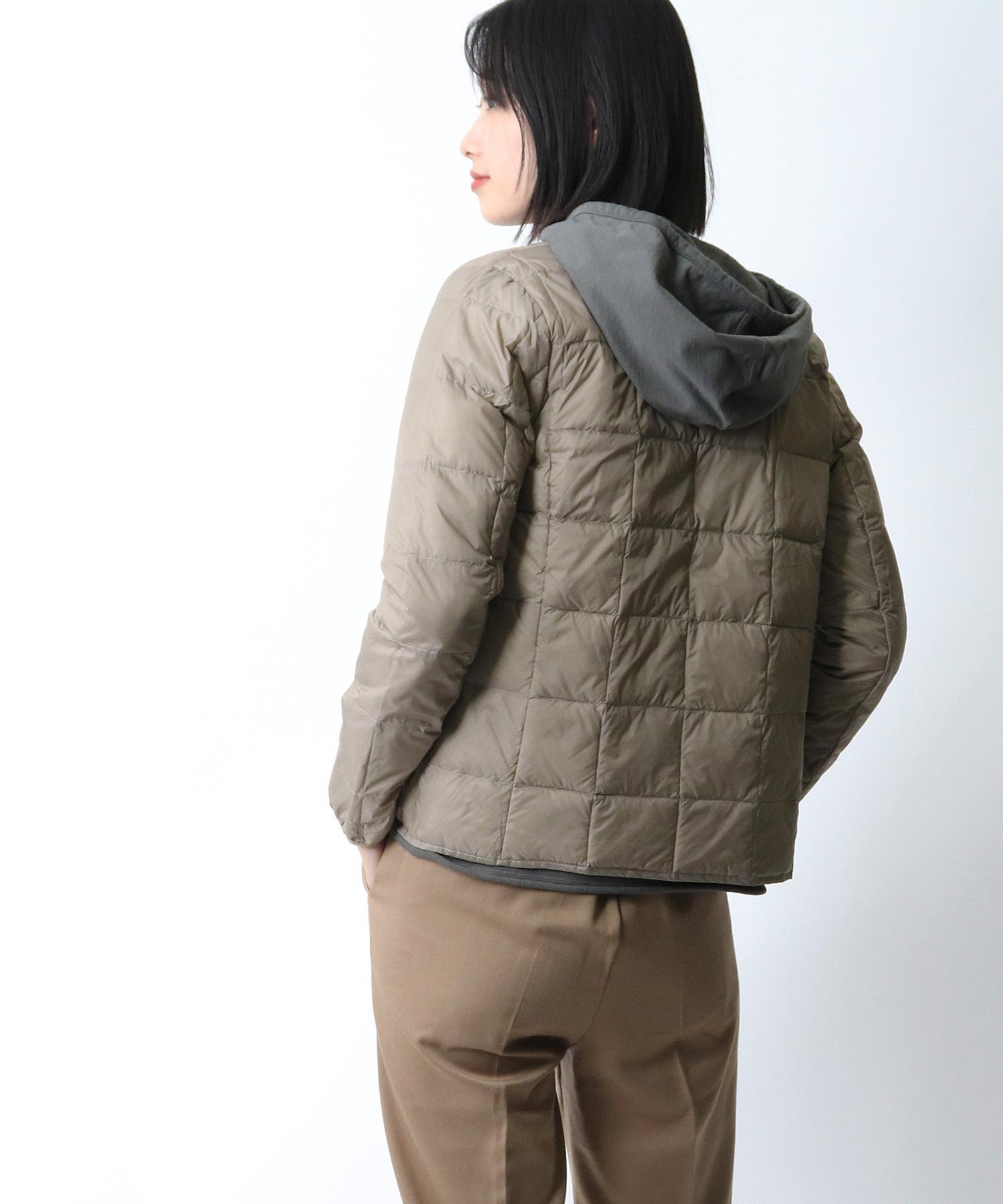 【 TAION / タイオン 】クルーネックフロントボタンダウンジャケット  TAION-W104‥