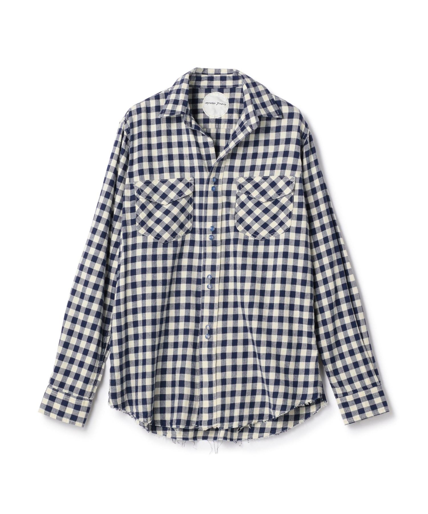 MARGO YOOMO / ウォッシュ加工チェック柄シャツ