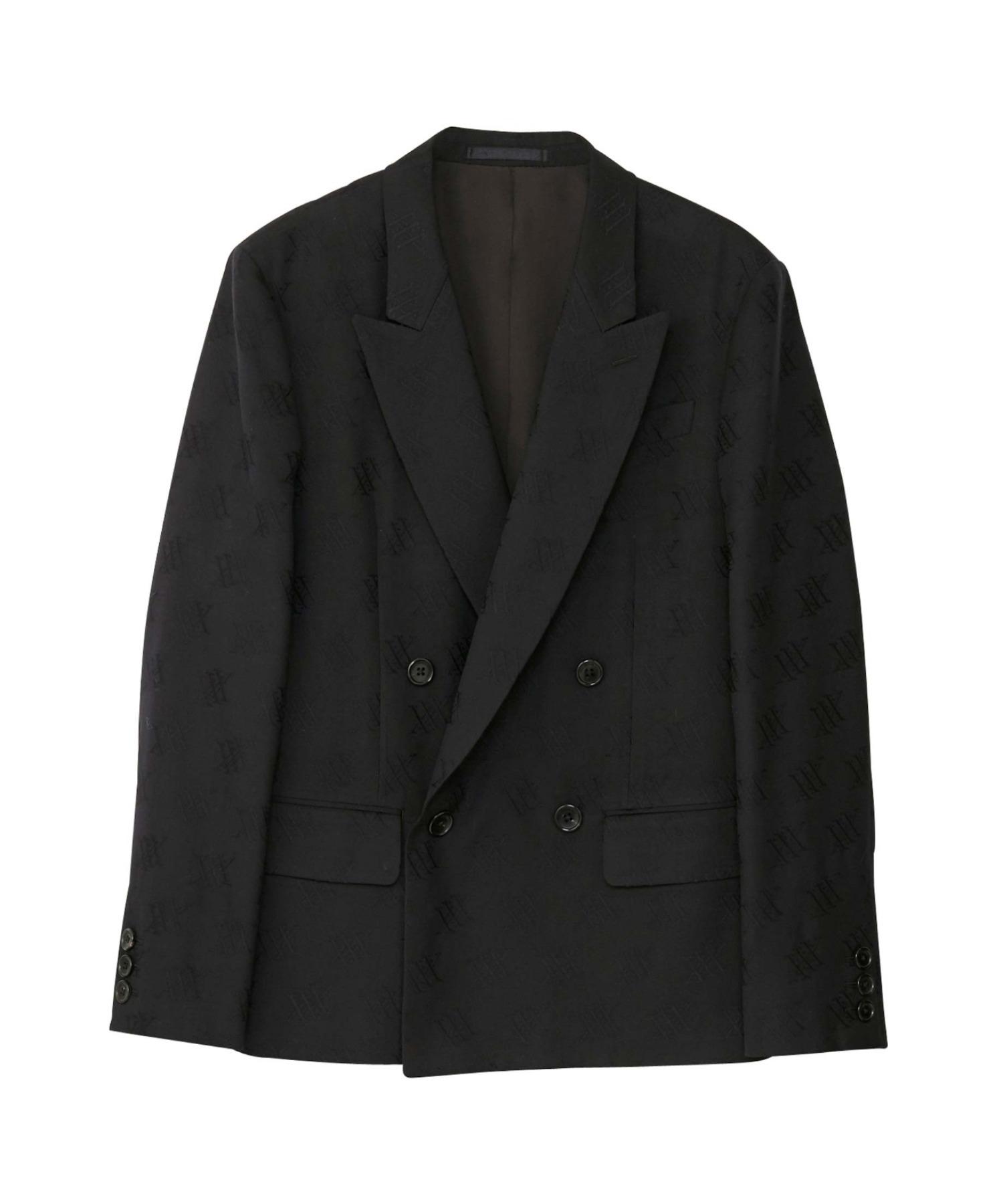 XXX PATTERNジャカード ダブルブレステッドジャケット