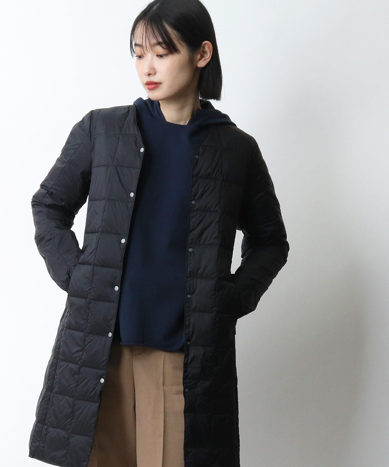 【 TAION / タイオン 】Vネックロングダウンジャケット TAION-W101-LONG‥