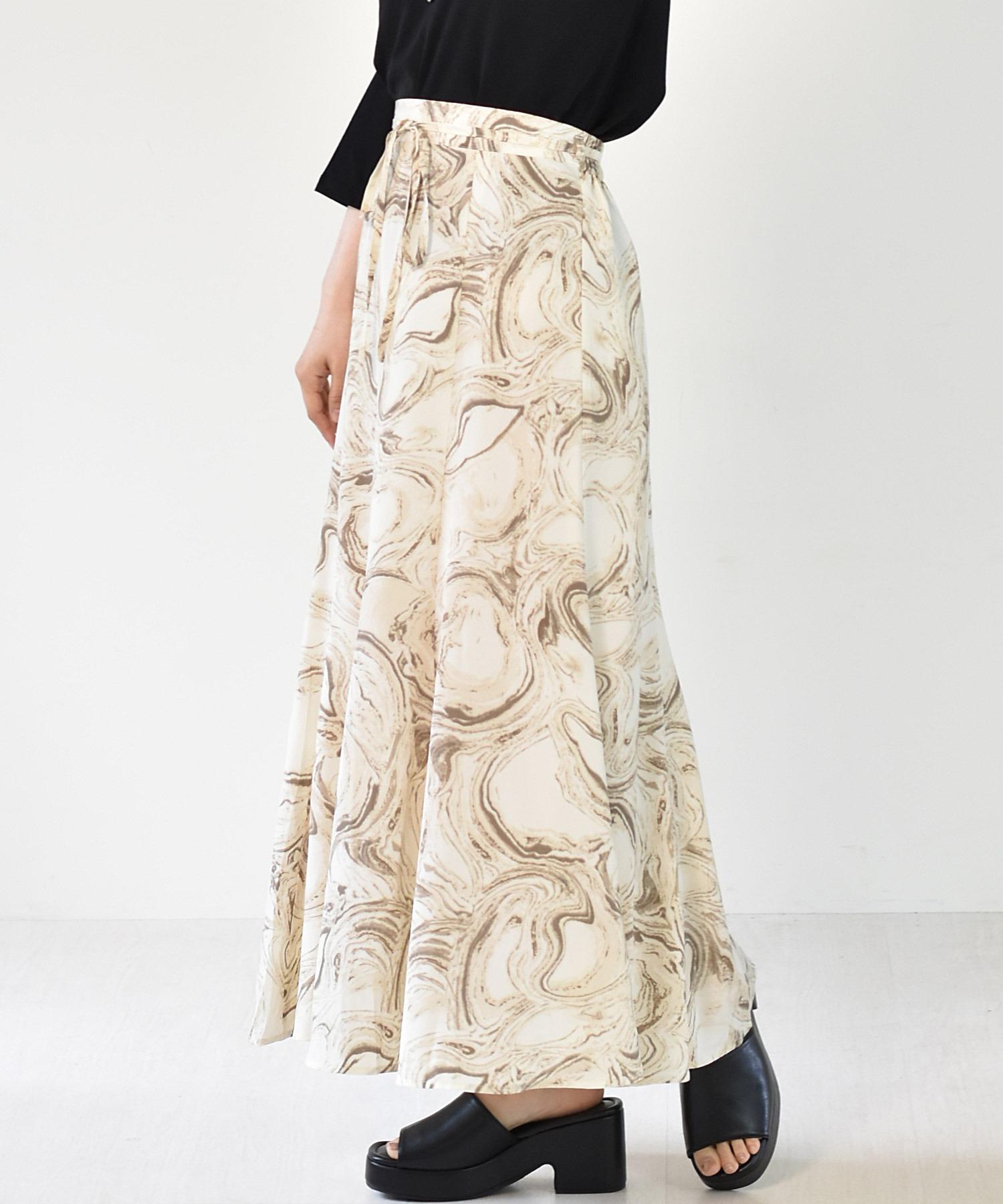 アート柄マーメイドスカート