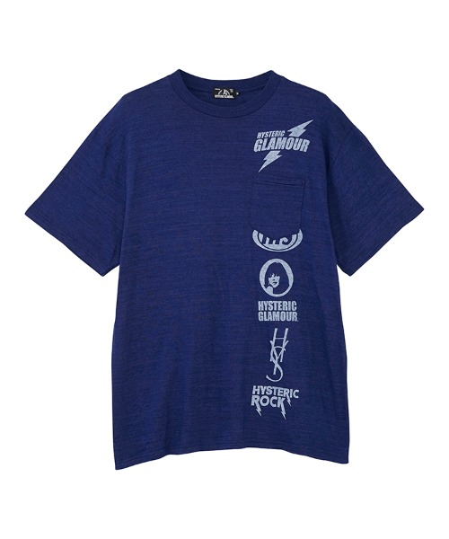 SCRATCH LINE オーバーサイズポケット付きTシャツ