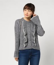 【LOA BY LOA】SWEATER WITH CENTRAL FRILL