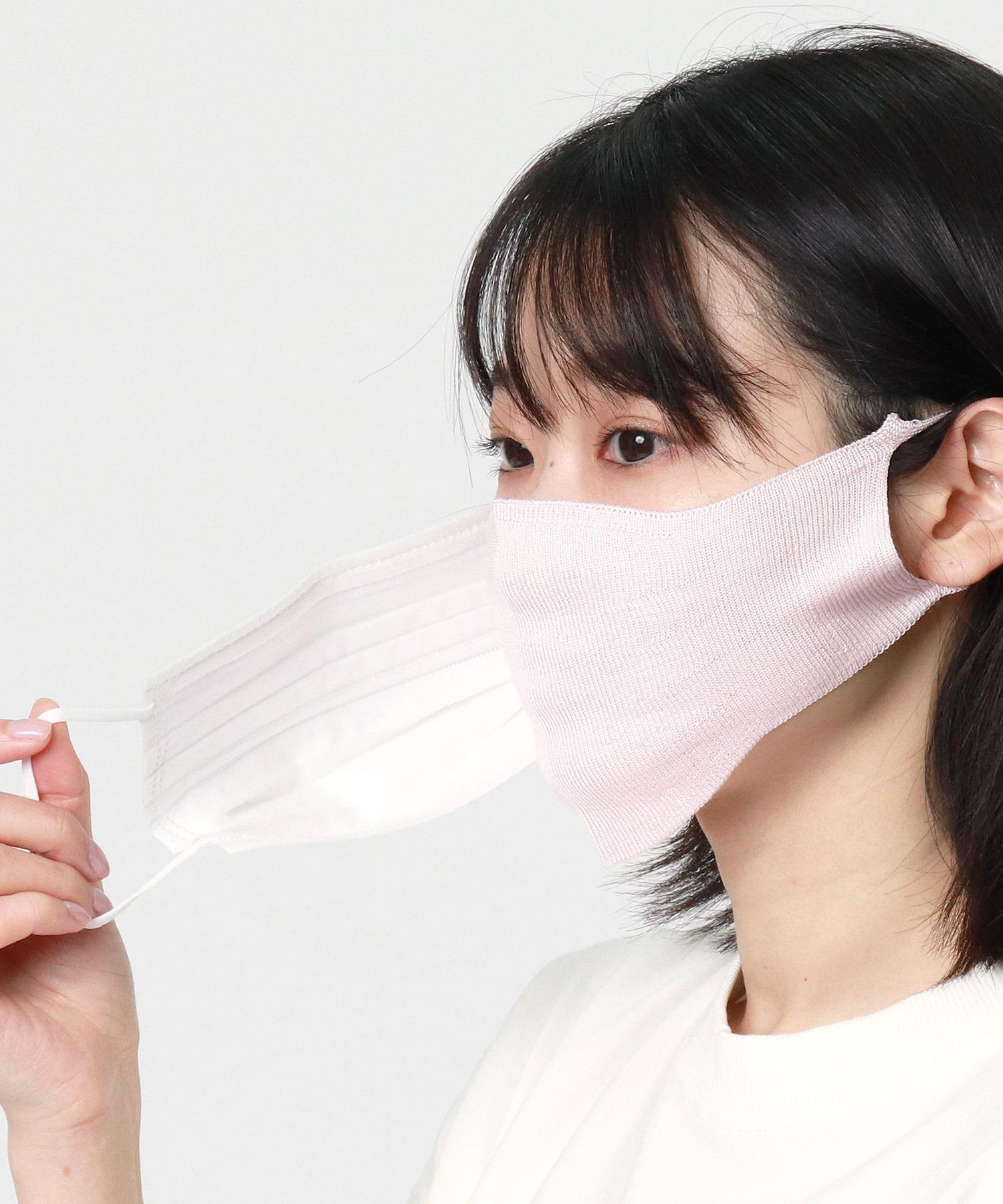 【warmth/ウォームス】シルクマスク (重ねるマスク)WST