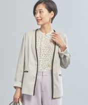 【WORK TRIP OUTFITS】★WTO BC 切替ノーカラージャケット