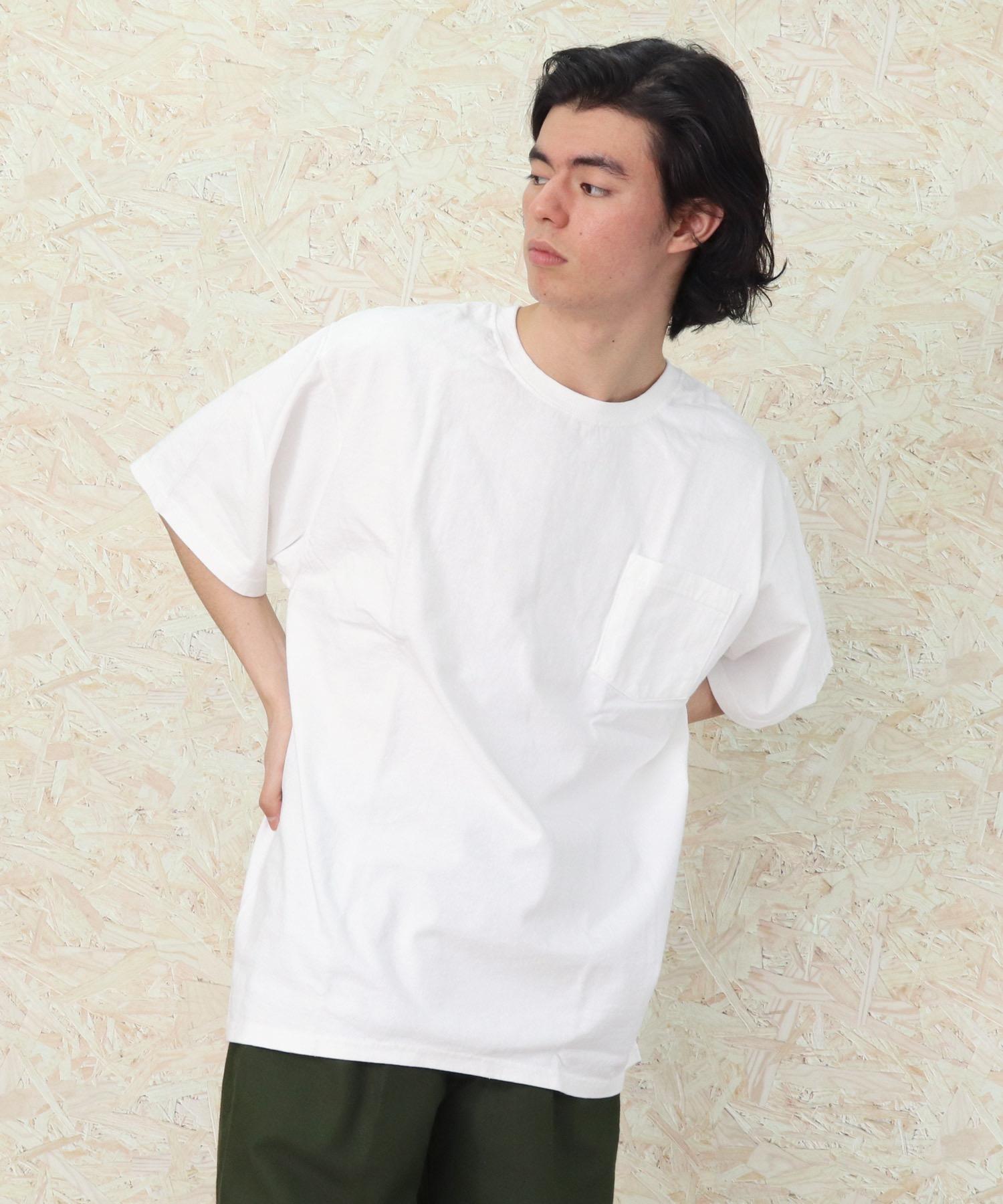 lala Bigin 2021年 6・7月号掲載【 Goodwear /  グッドウェア 】MADE IN USA # レギュラーフィット半袖クルーネック ポケットTシャツ アメリカ製