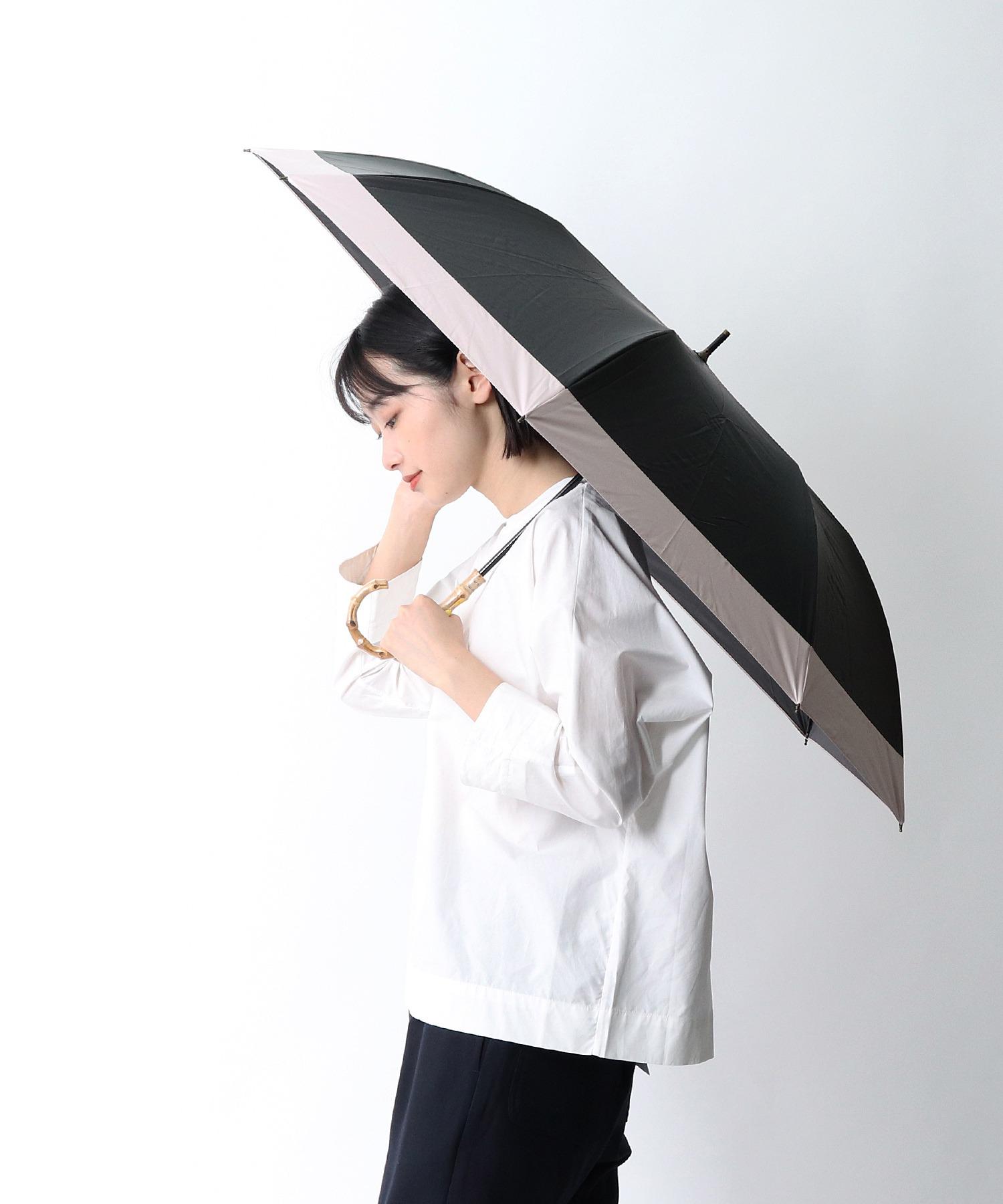 晴雨兼用 ショートワイド折りたたみ傘 竹手 27370