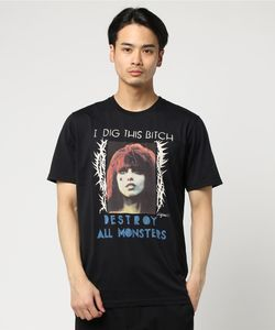 DESTROY ALL MONSTERS/I DIG THIS BITCH プリント Tシャツ