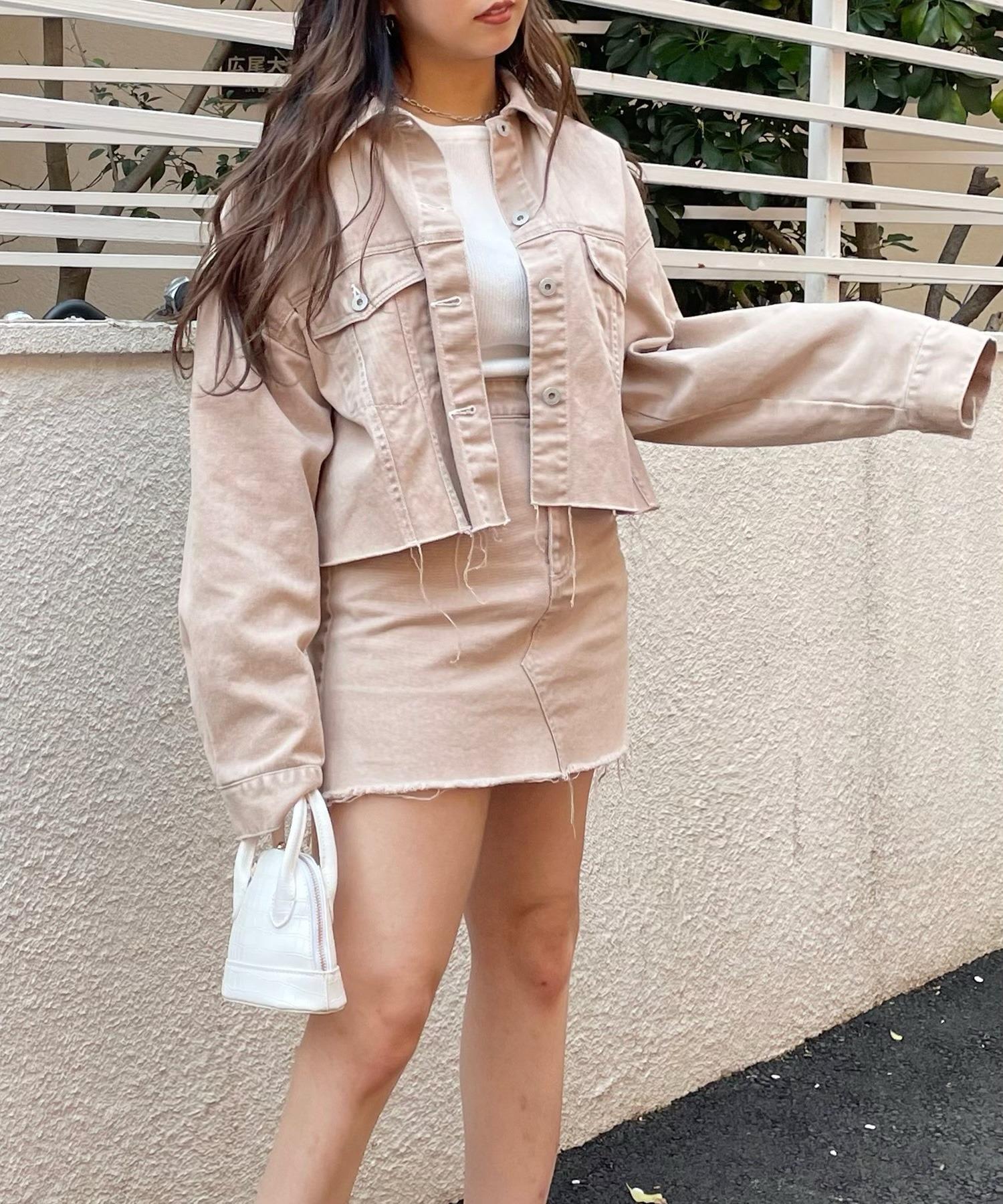 【超十代 やしろななさん着用】カットオフショートジャケット