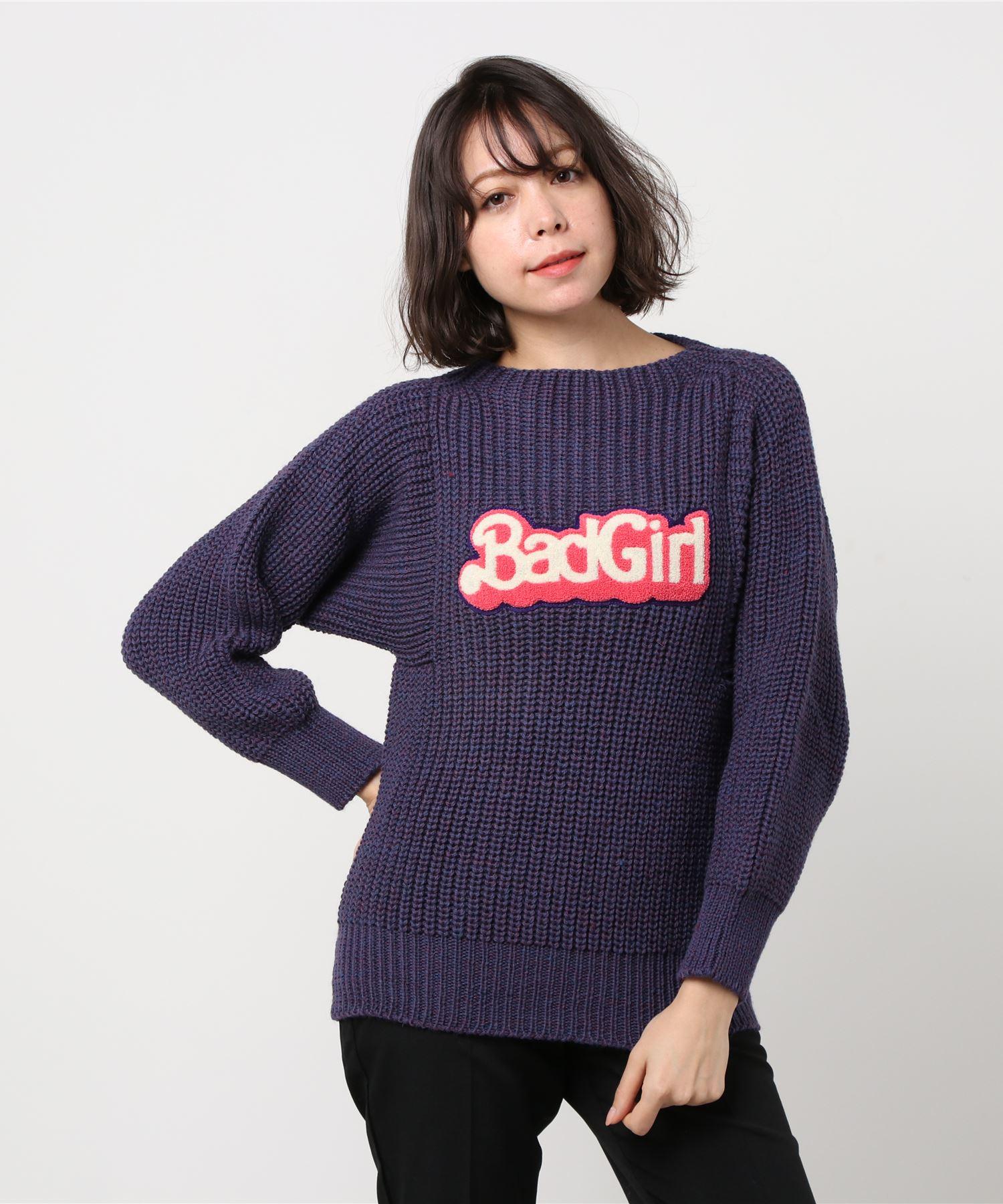 BRITISH WOOL/BAD GIRLワッペン プルオーバー