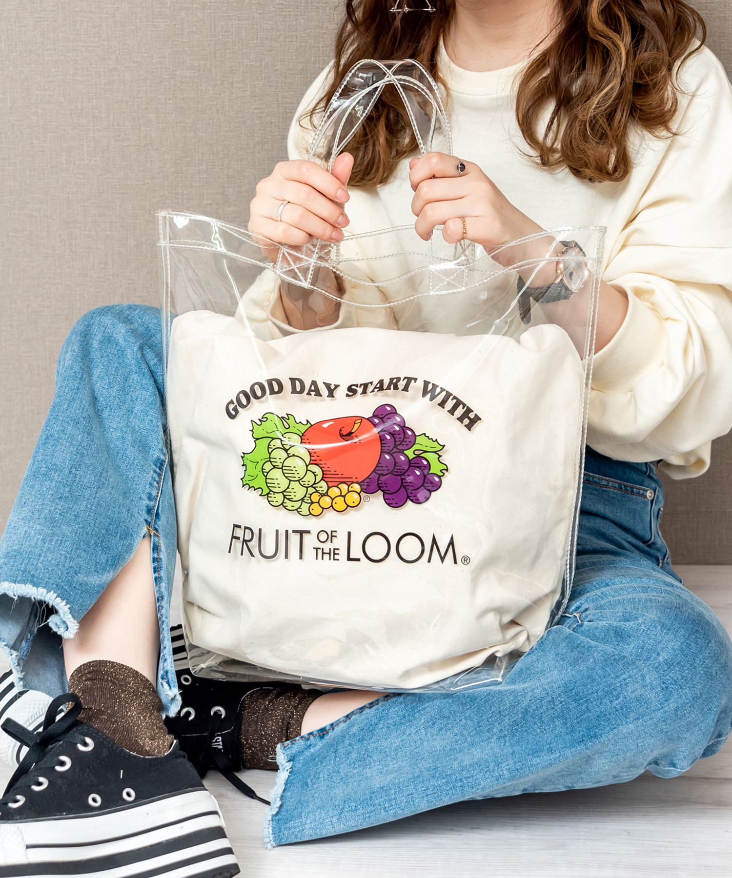 FRUIT OF THE LOOM クリア トートバッグ