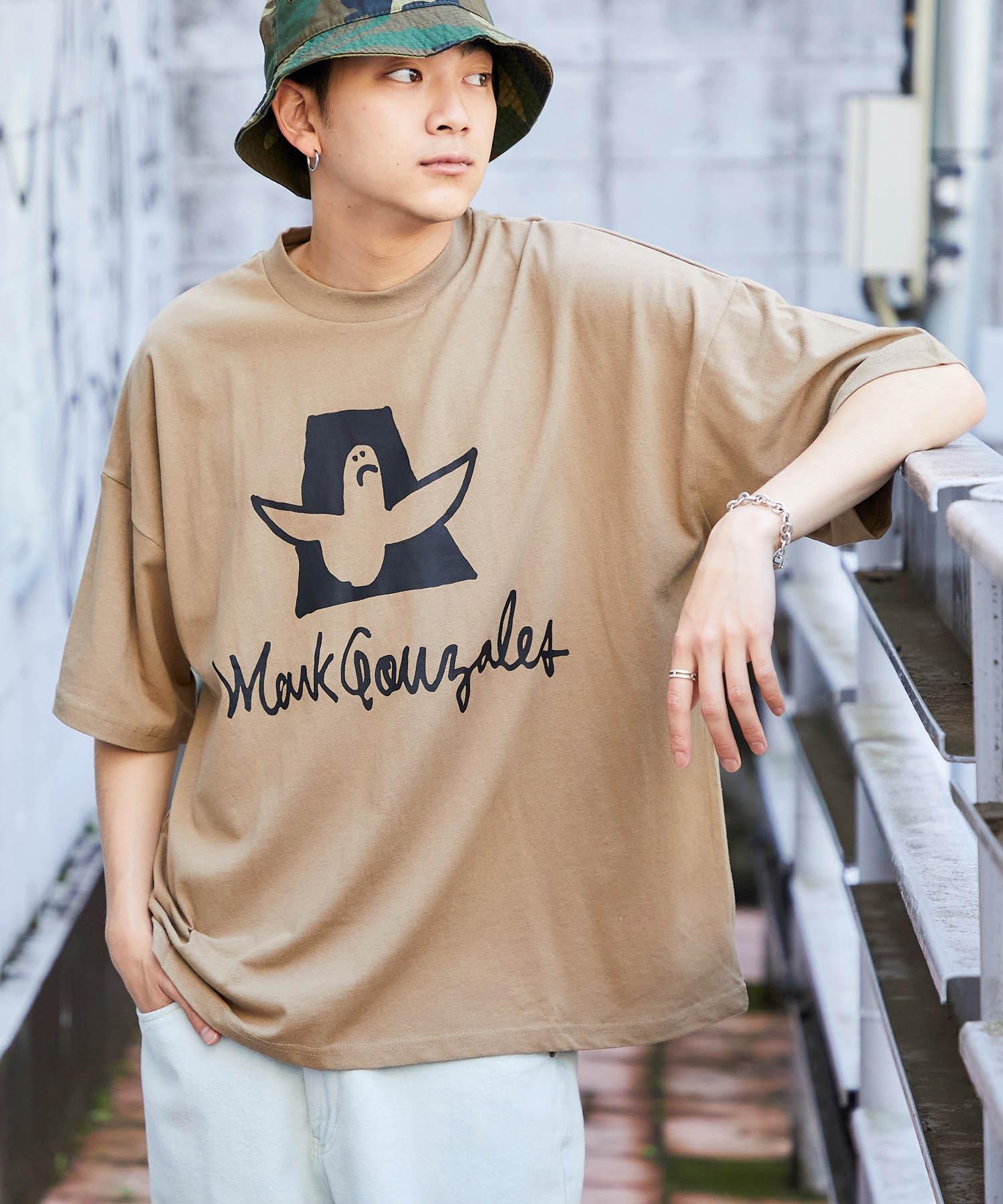 Mark Gonzales/マークゴンザレス MONO-MART別注  ビッグシルエット前面/背面BIGプリント 半袖Tee
