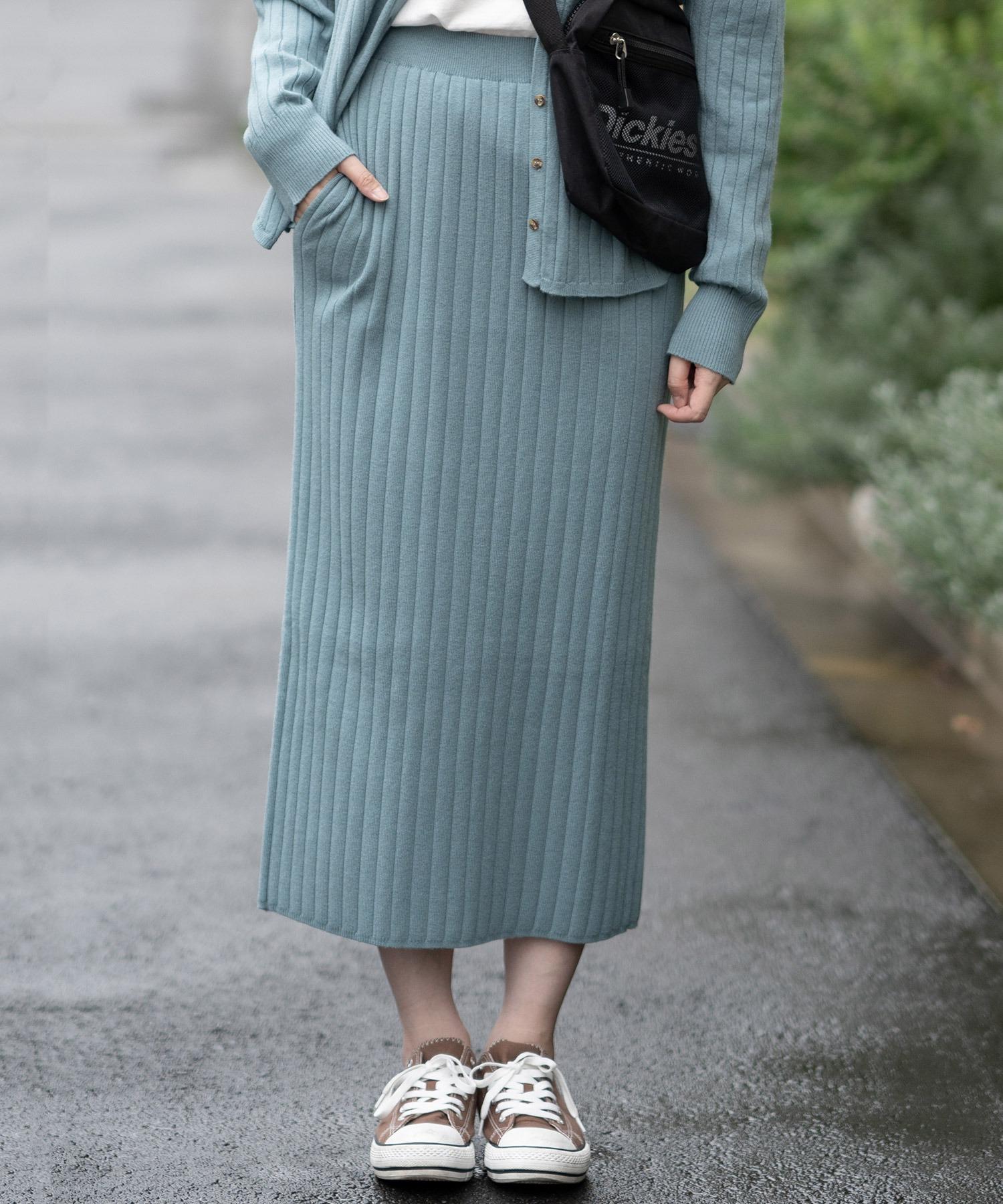 【プチプラのあやコラボアイテム】リブニットスカート