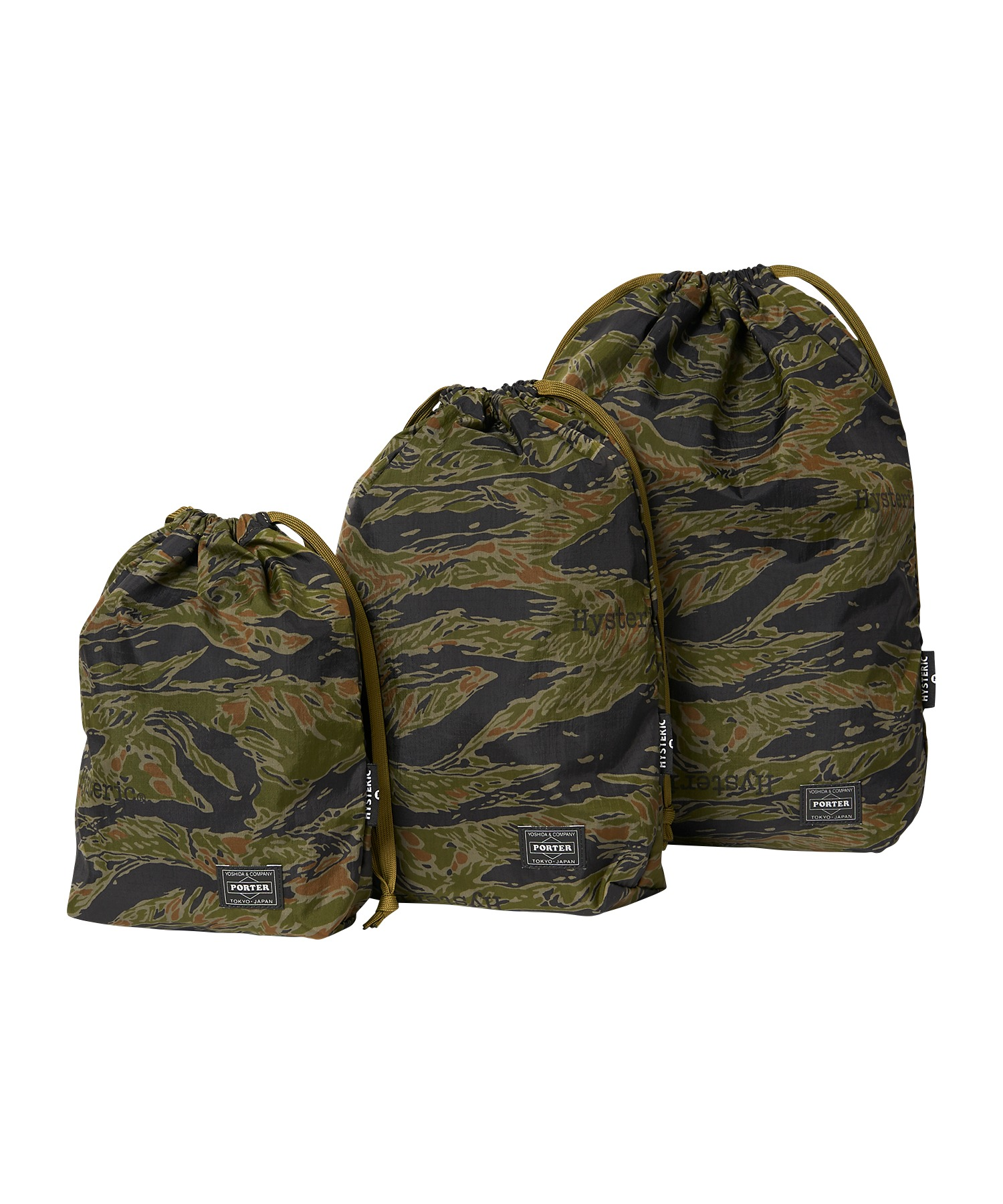 PORTER × HYSTERIC/TIGER CAMO PACKS アーミーポーチ