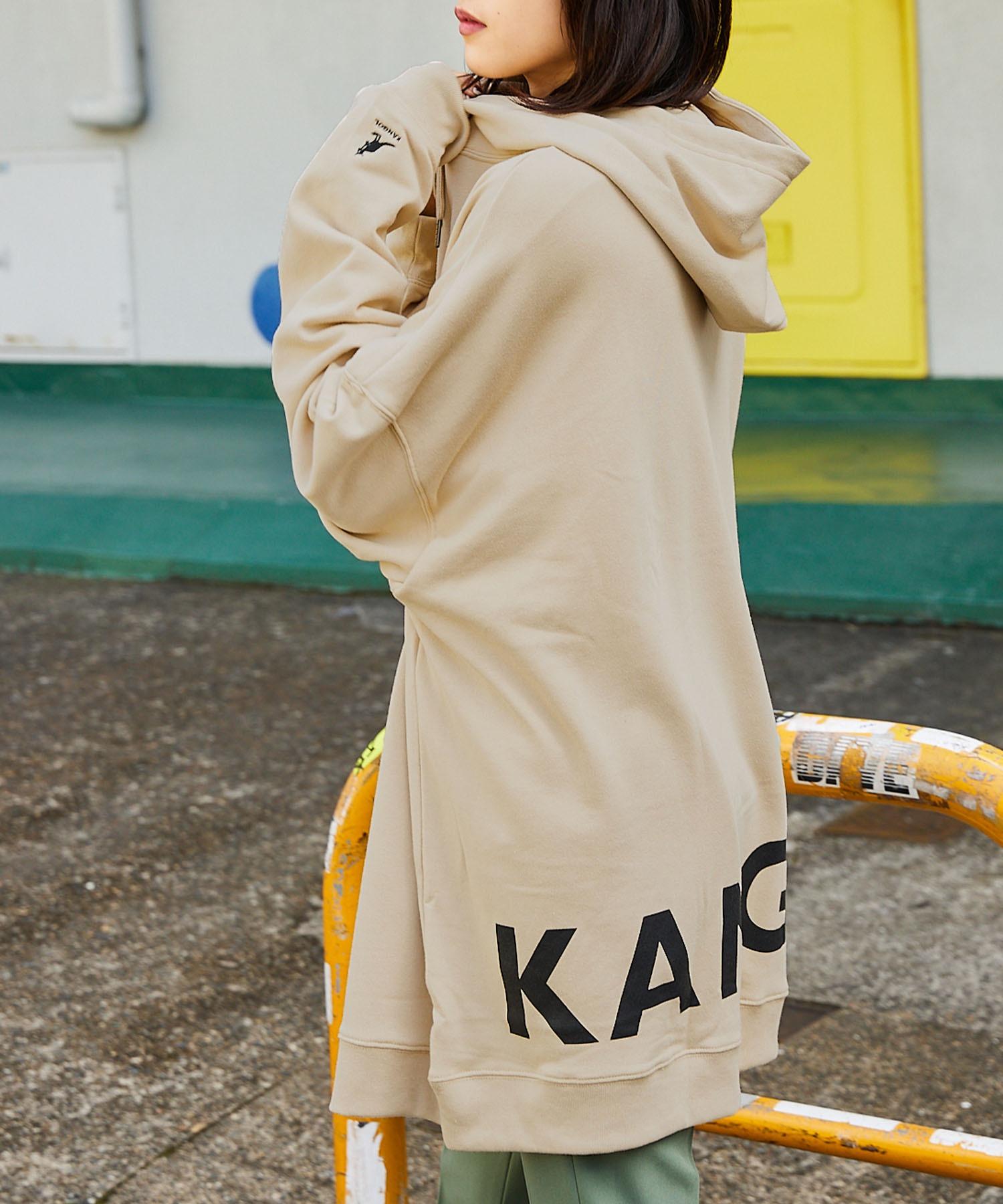 【BASQUE -enthusiastic design-】KANGOL カンゴール BASQUE magenta 別注 バックプリント スーパービッグシルエットプルオーバーパーカー