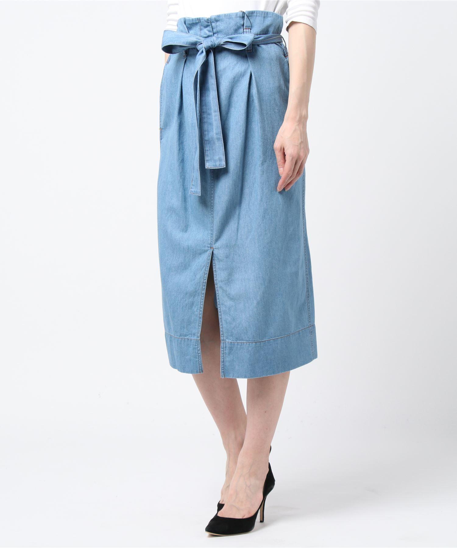 ESTNATION / ウエストリボンデニムスカート