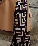 <Steven Alan>BLOCK CHECK INTARSIA SKIRT/スカートо