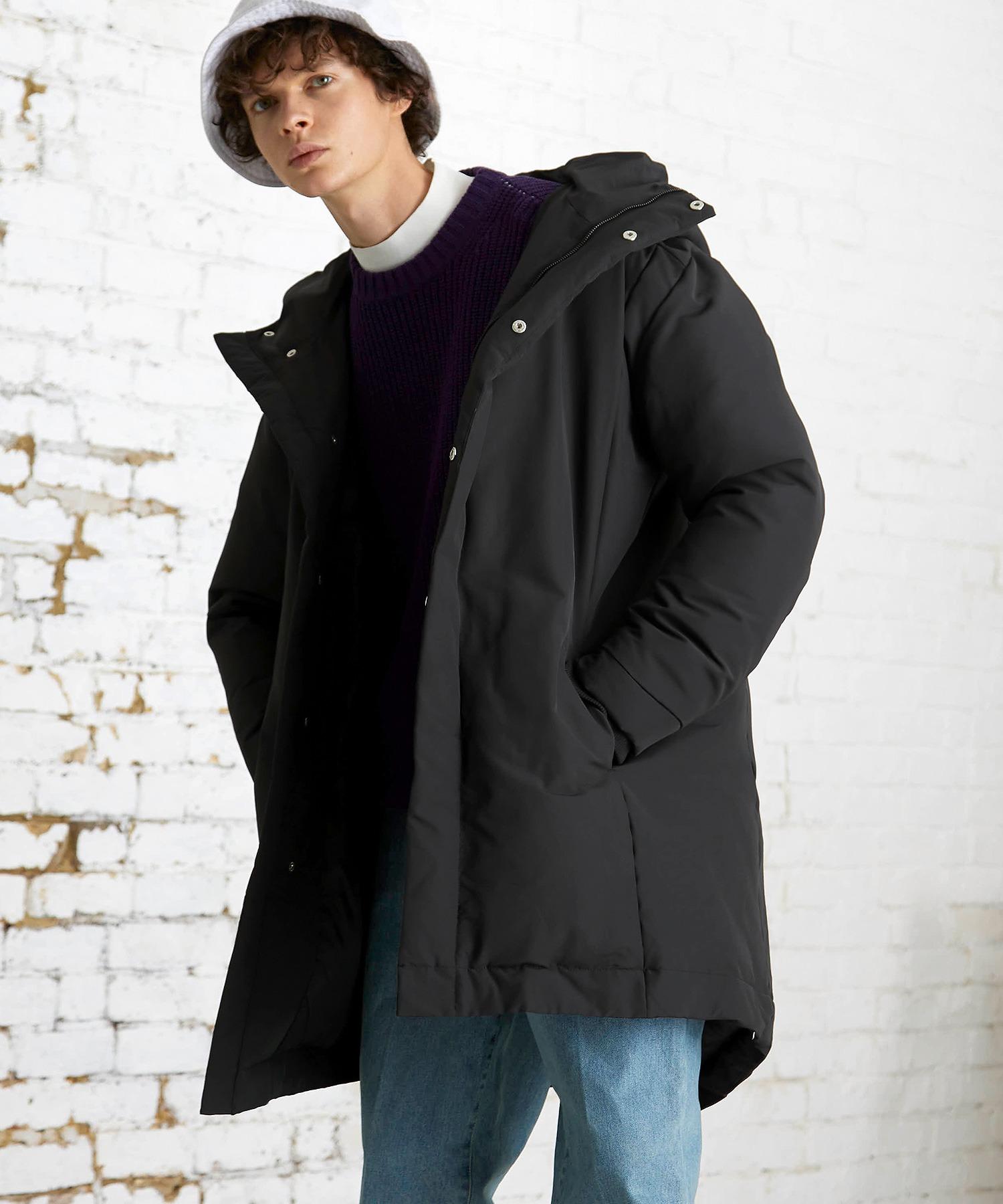 【EMMA CLOTHES】ブライトNC ロングリアルダウンジャケット/モンスターパーカー ロングダウンJKT ダウンコート