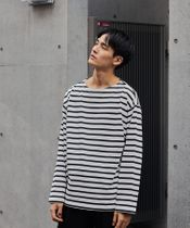 <green label relaxing>GIZA バスク ボーダー 長袖 カットソー