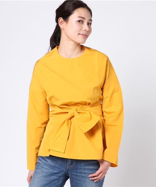 STUDIO NICHOLSON /NOISY WRAP TIE TOP