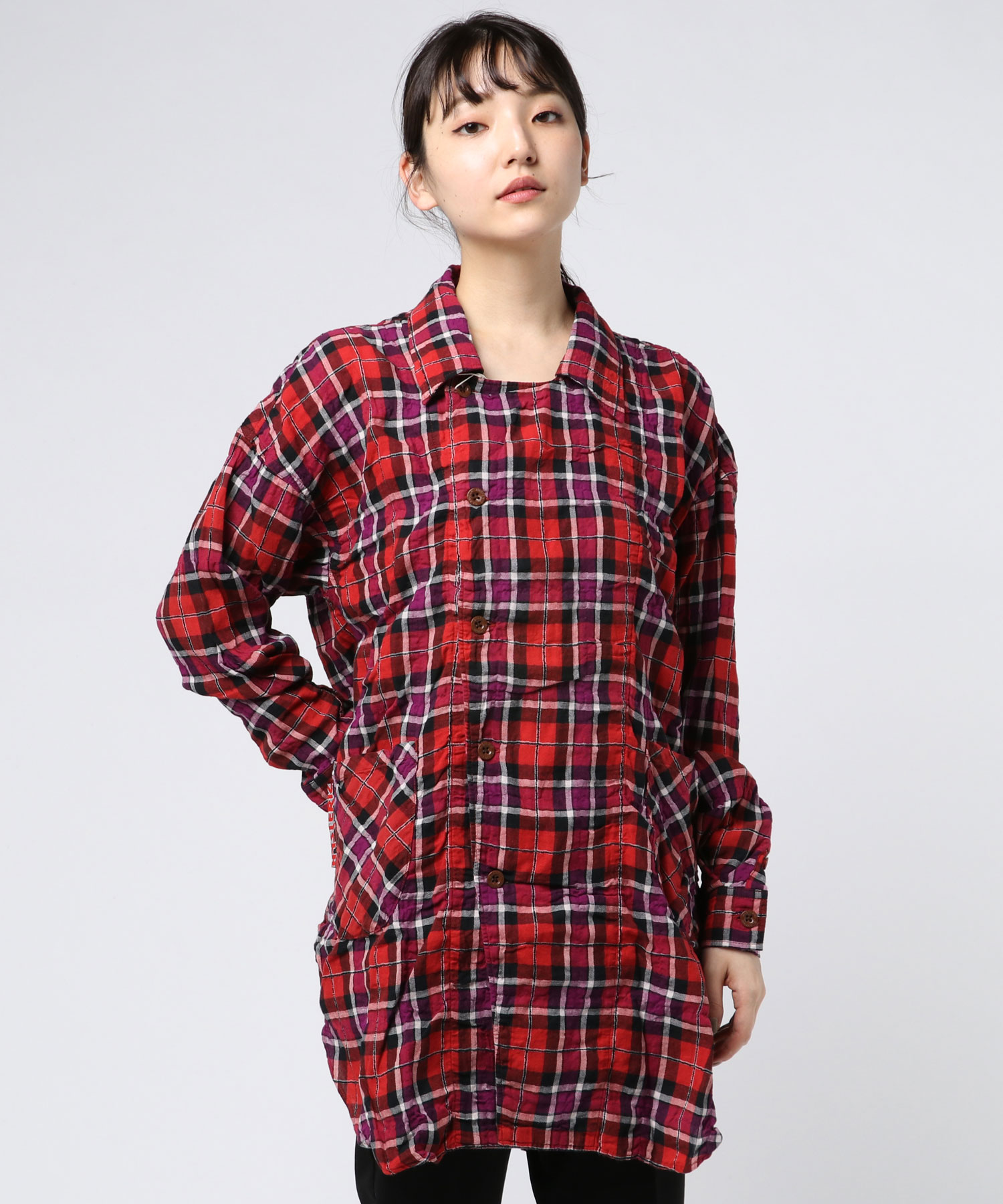長袖オーバーシャツ