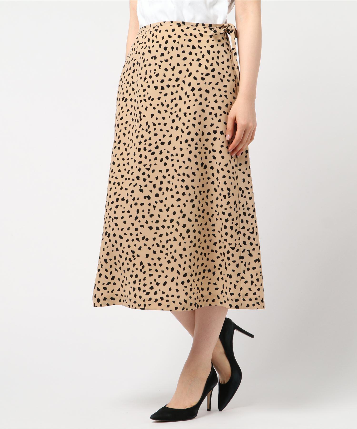 ESTNATION / レオパードプリントスカート