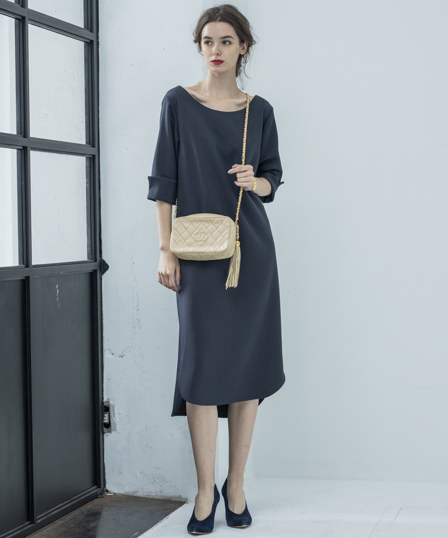 【STYLEBAR】バックVサックドレス