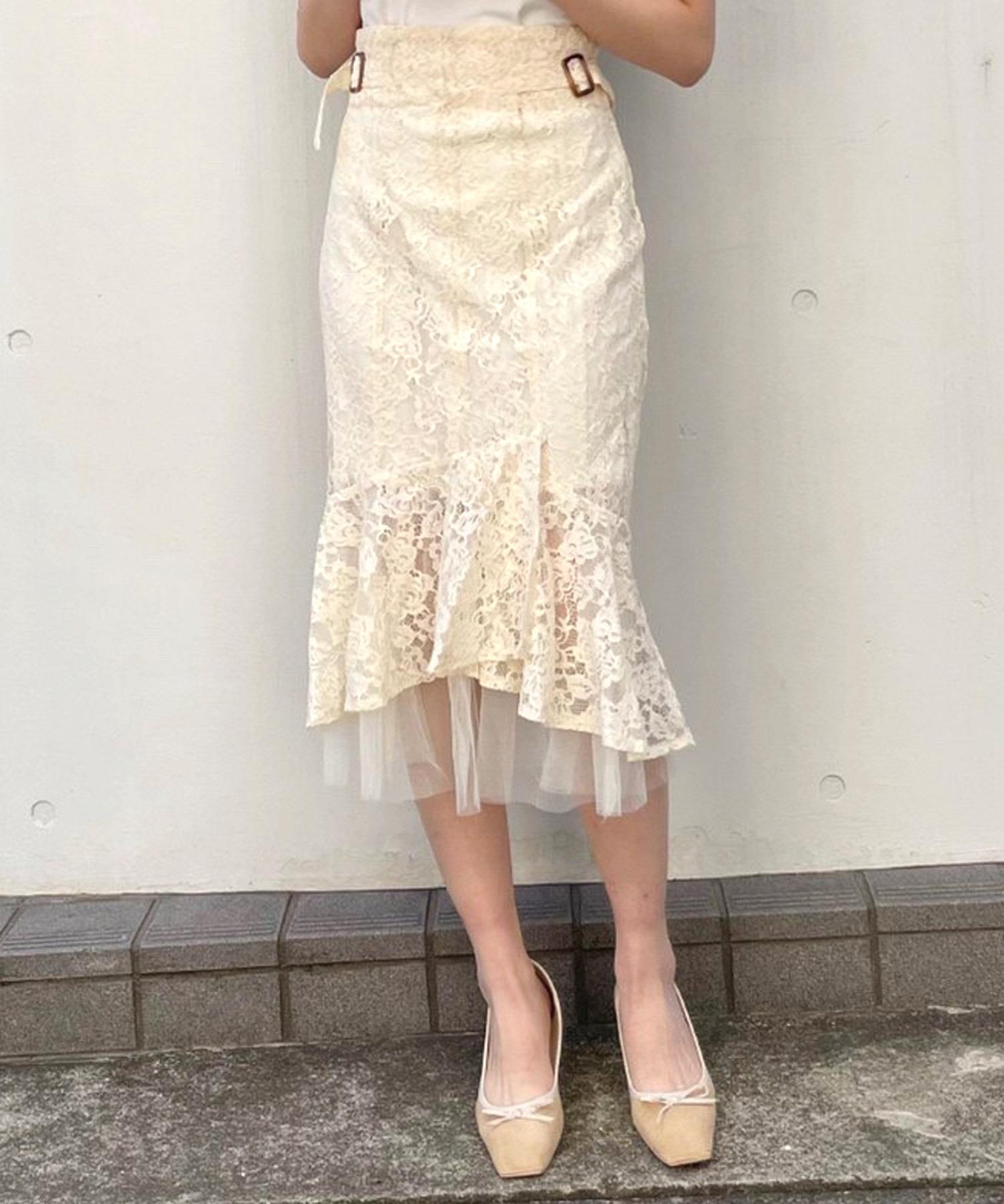 サイドバックルマーメイドスカート