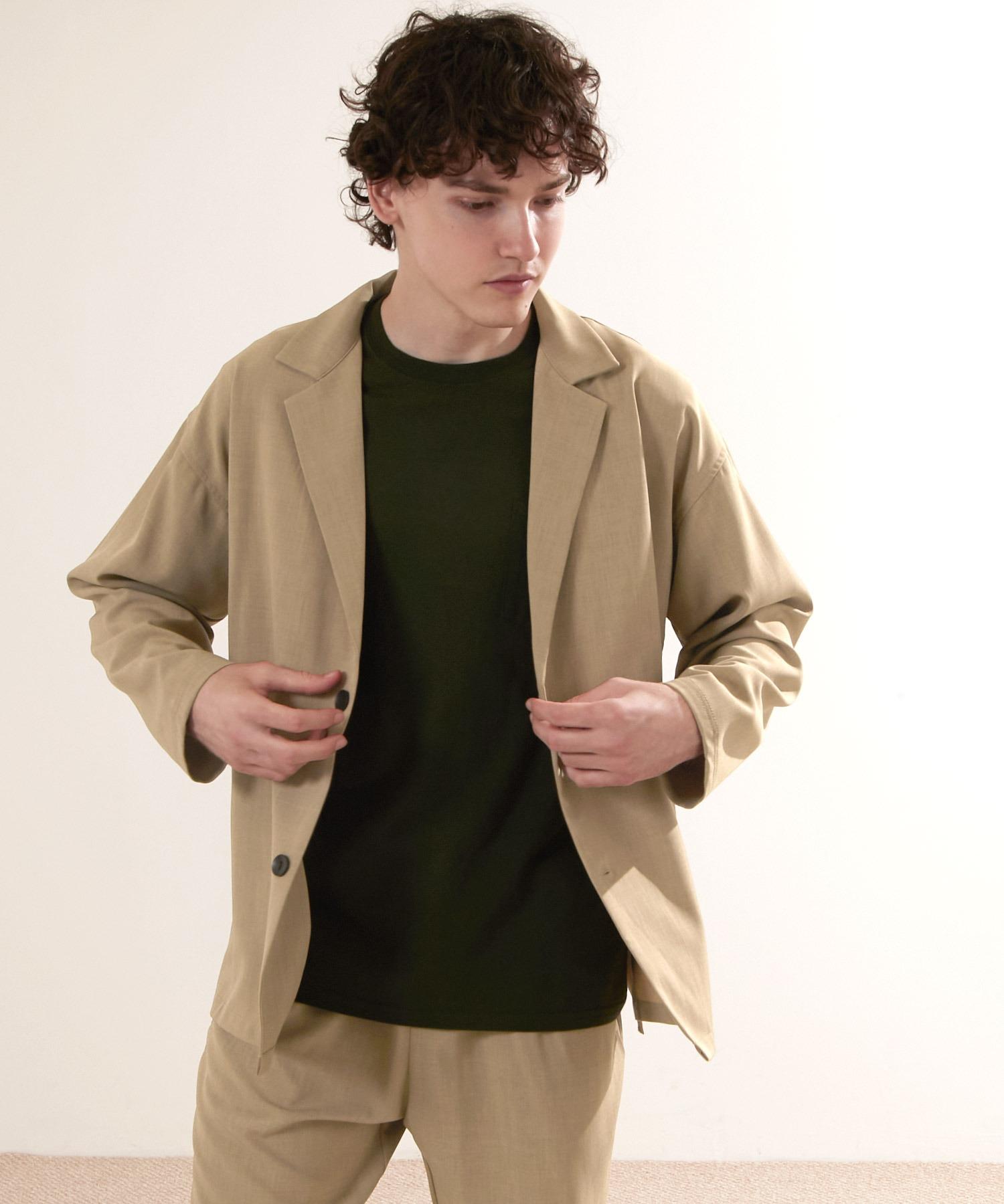 【セットアップ】オーバーサイズ ルーズ2Bテーラードジャケット&タックテーパードイージーパンツ EMMA CLOTHES 2021S/S