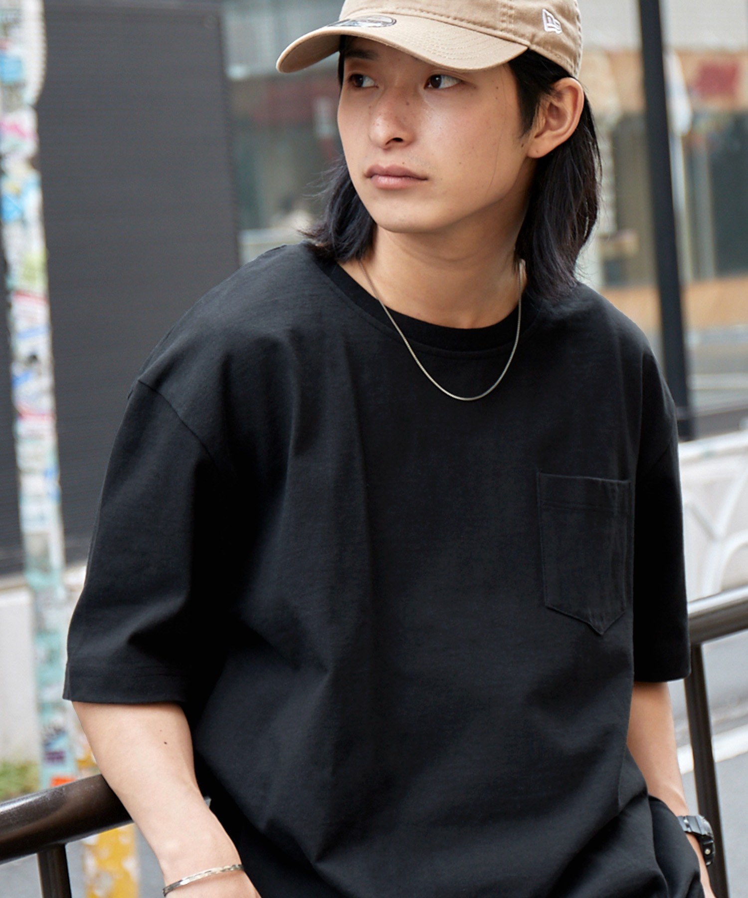 ヘビーウェイト ビッグシルエット USAコットン プルオーバー 無地T トップス Tシャツ (1/2 sleeve)