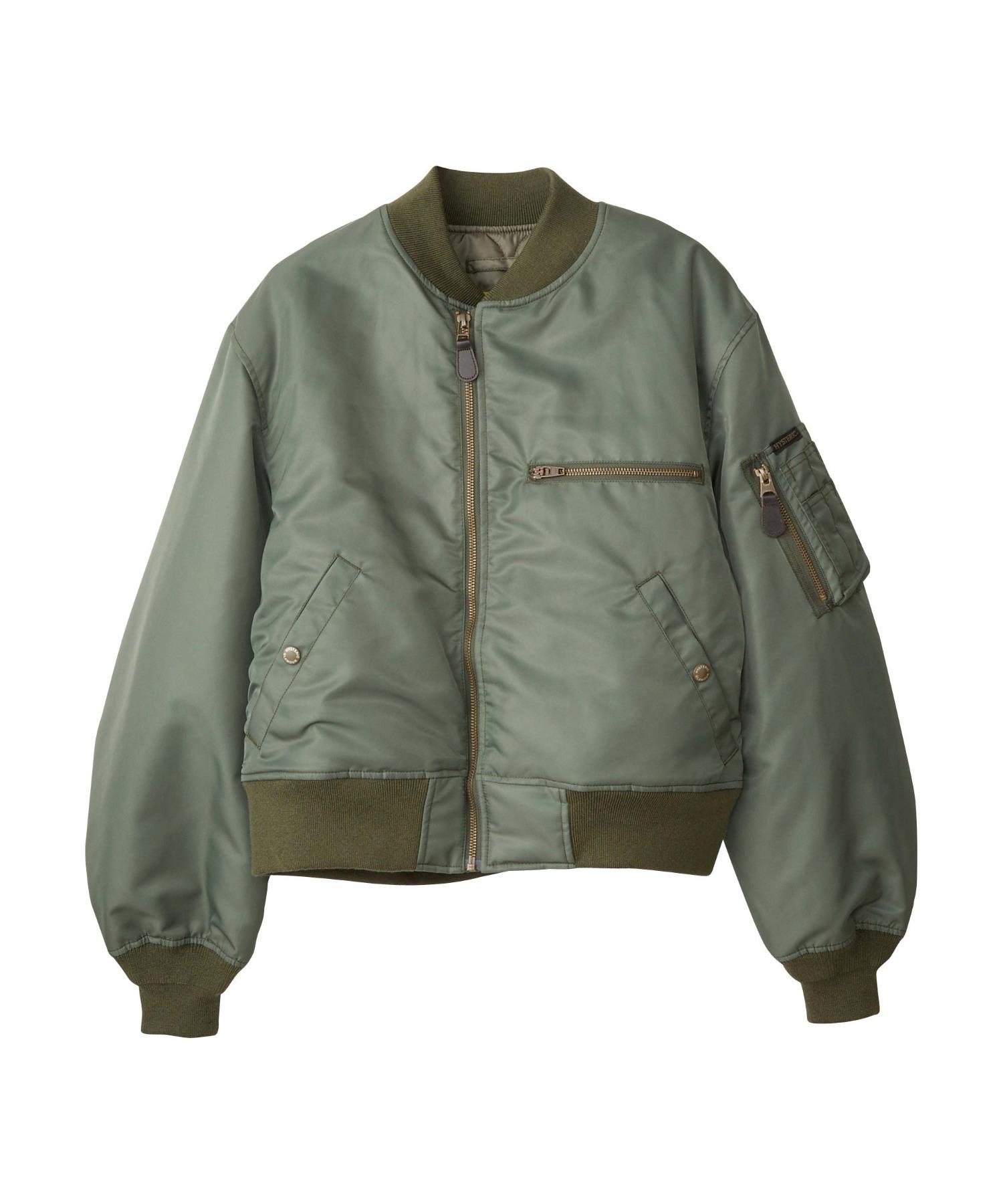 CIRCLEロゴ ショート丈MA-1ジャケット