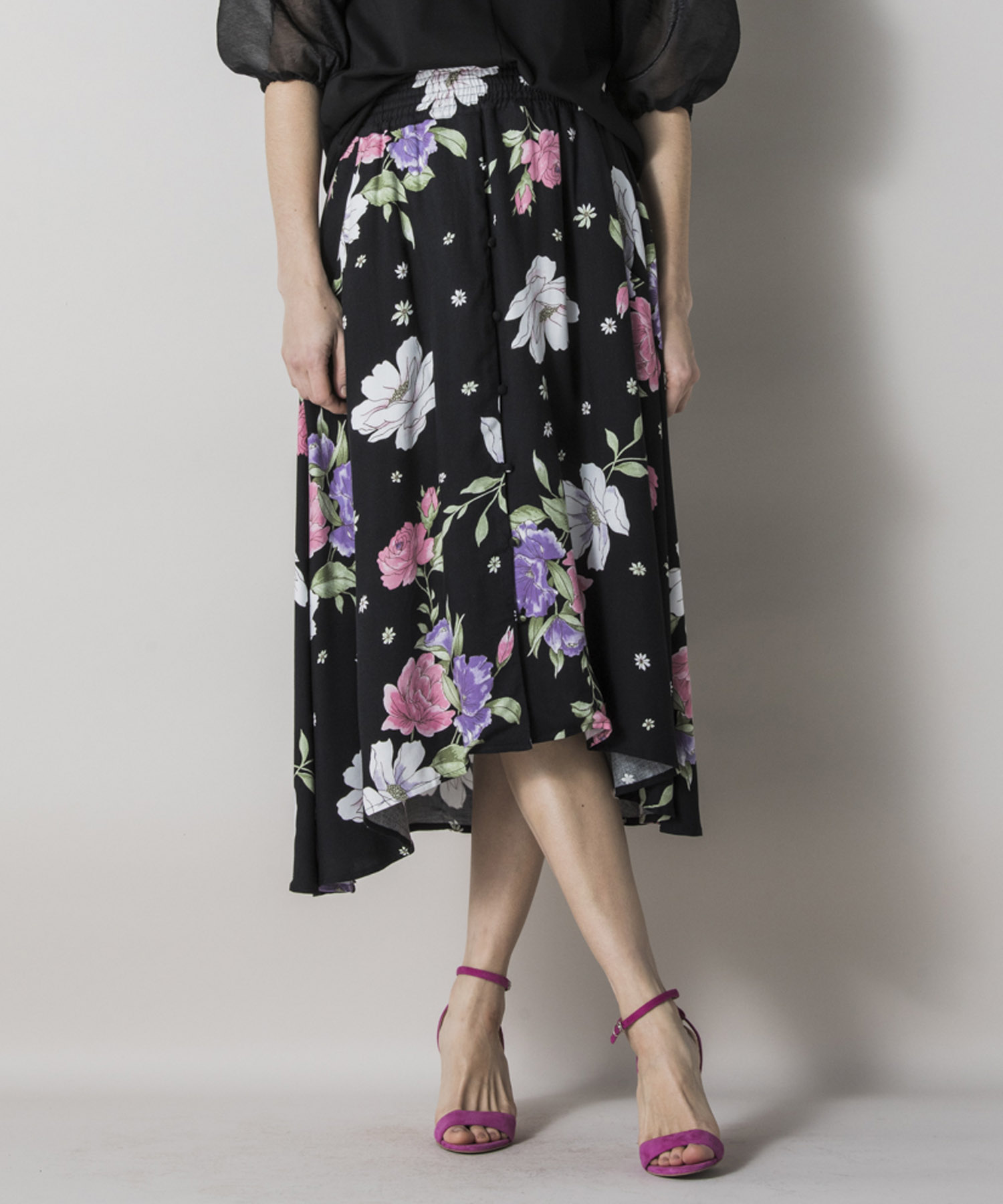 【STYLEBAR】オリジナルフラワーロングスカート