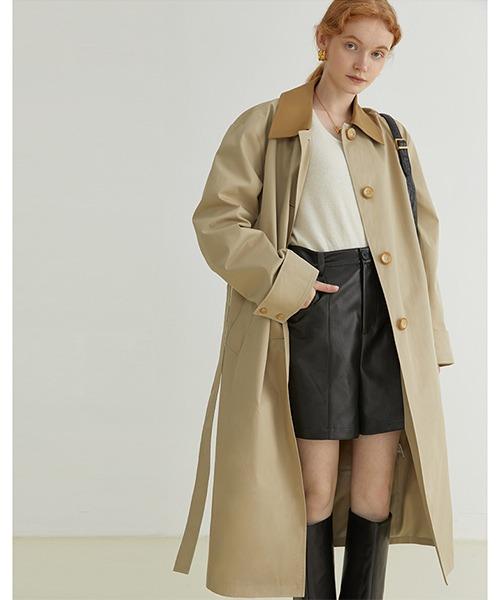 【Fano Studios】【2021AW】Contrasting color lapel coat FQ21W037