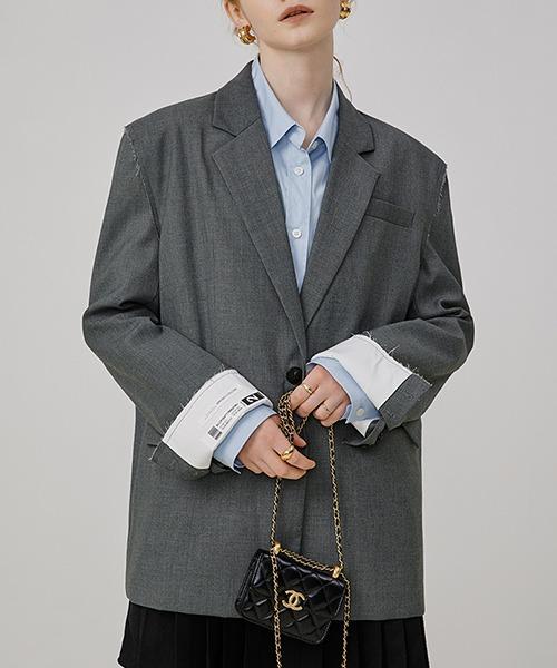 【Fano Studios】【2021AW】Wrap back cuff jacket FQ21W102