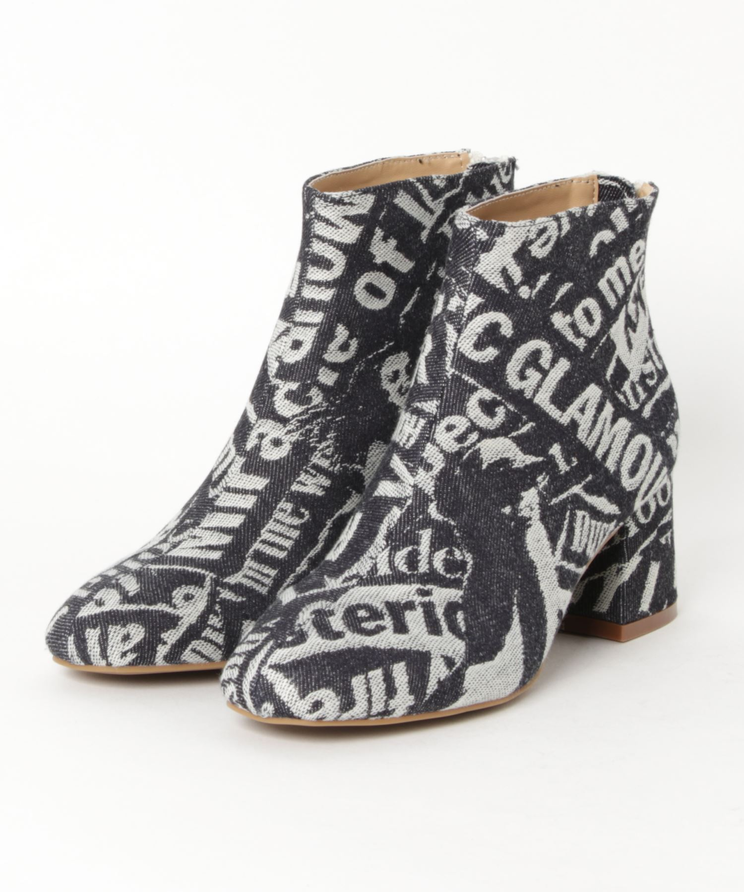 DENIM CHUNKY HEEL ブーツ