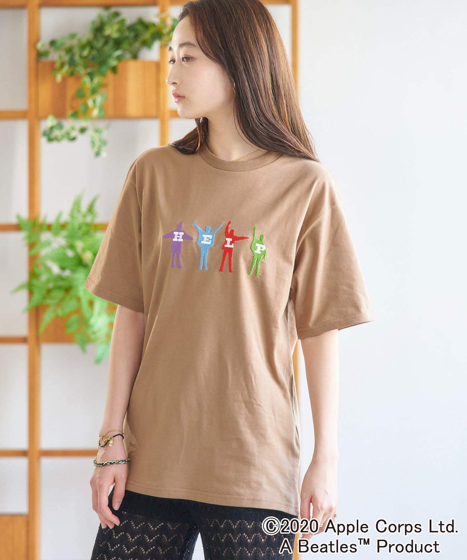 BEATLES/ビートルズ別注 刺繍 半袖Tee オーバーサイズカットソー
