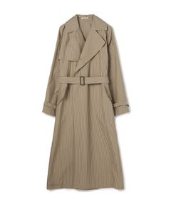 """AURALEE / """"HIGH COUNT FINX WEATHER CLOTH CHECK"""" トレンチコート"""