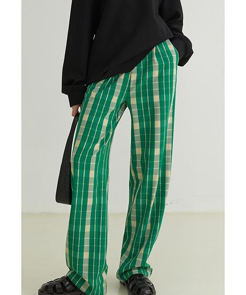 【Fano Studios】【2021AW】Tartan plaid color pants FQ21K031