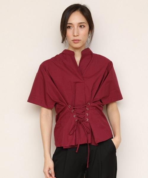 【STYLEBAR】コルセットデザインシャツブラウス