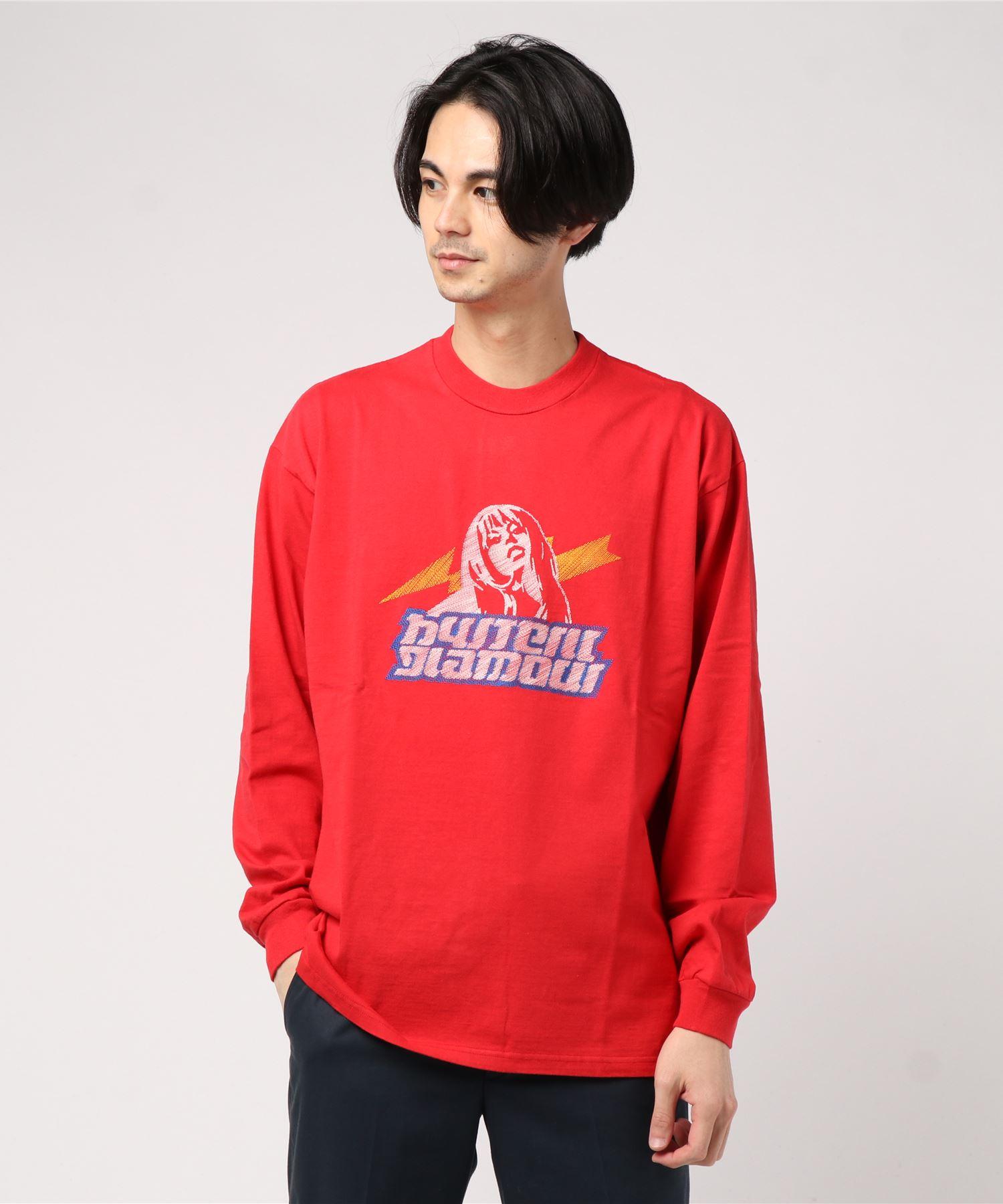 LADYLAND ACADEMY刺繍 リブ付Tシャツ
