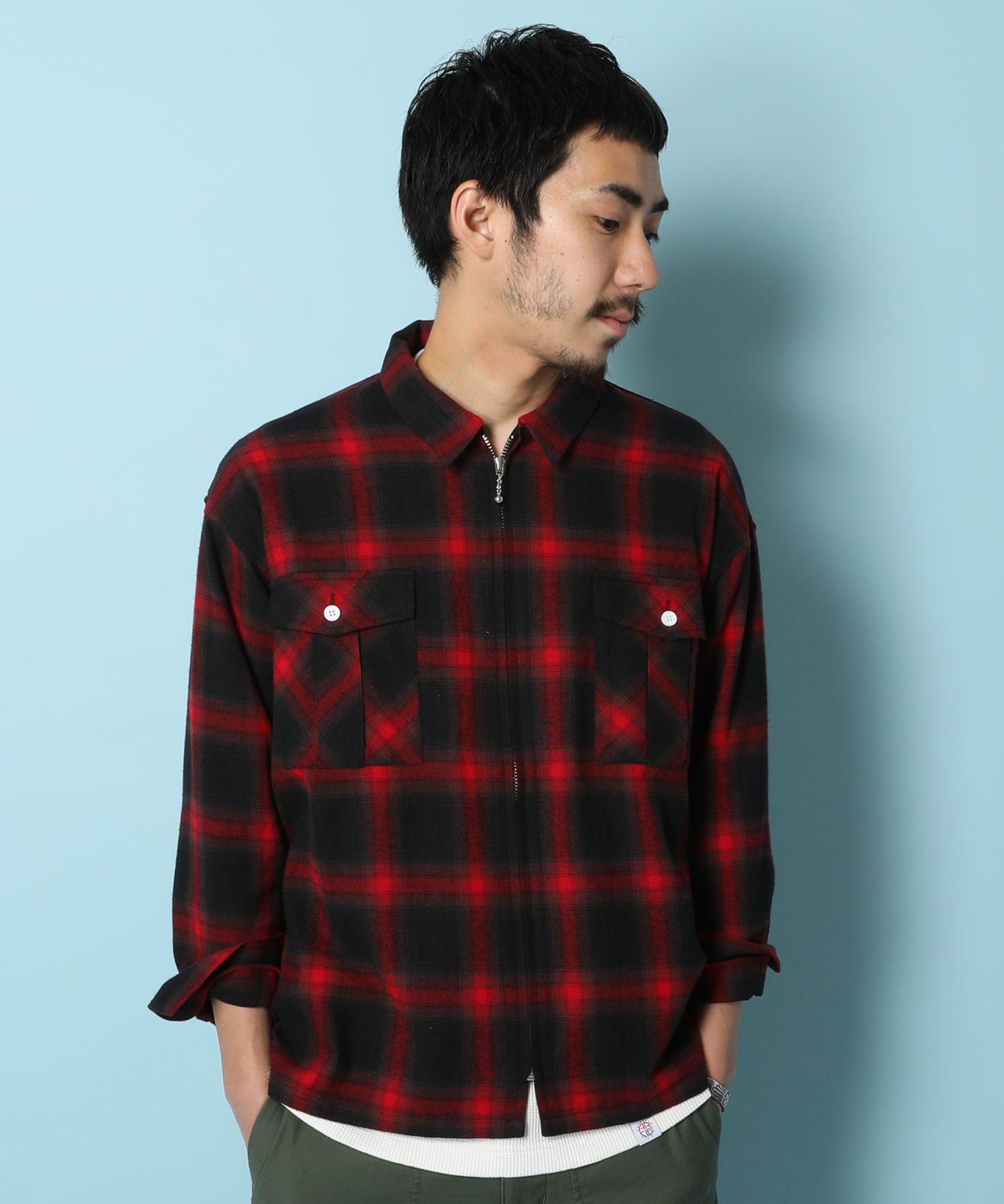 アメリカンラグシー AMERICAN RAG CIE / チェックジップシャツ Plaid Zip Shirt