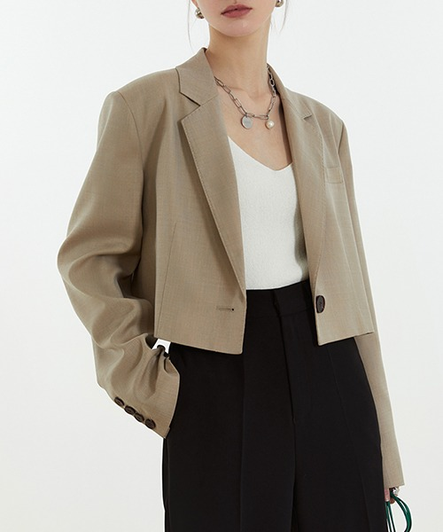 【Fano Studios】【2021SS】1 button short tailored jacket cb-3 FC21W039