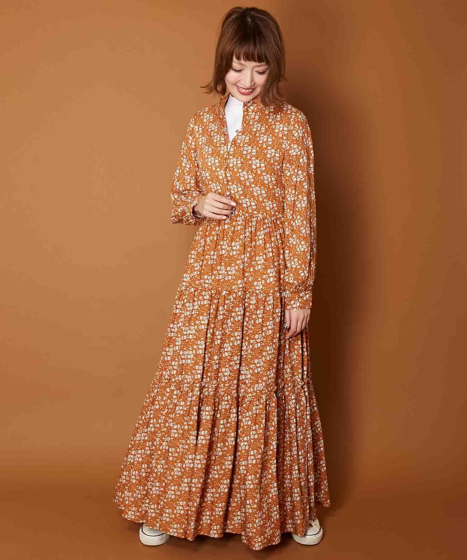 アメリカンラグシー AMERICAN RAG CIE / ハイネックギャザードレス Highneck Gathered Dress